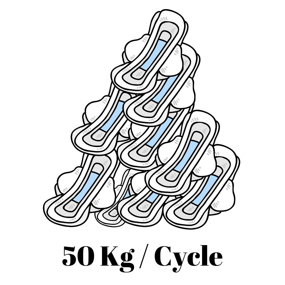 50Kg/cycle