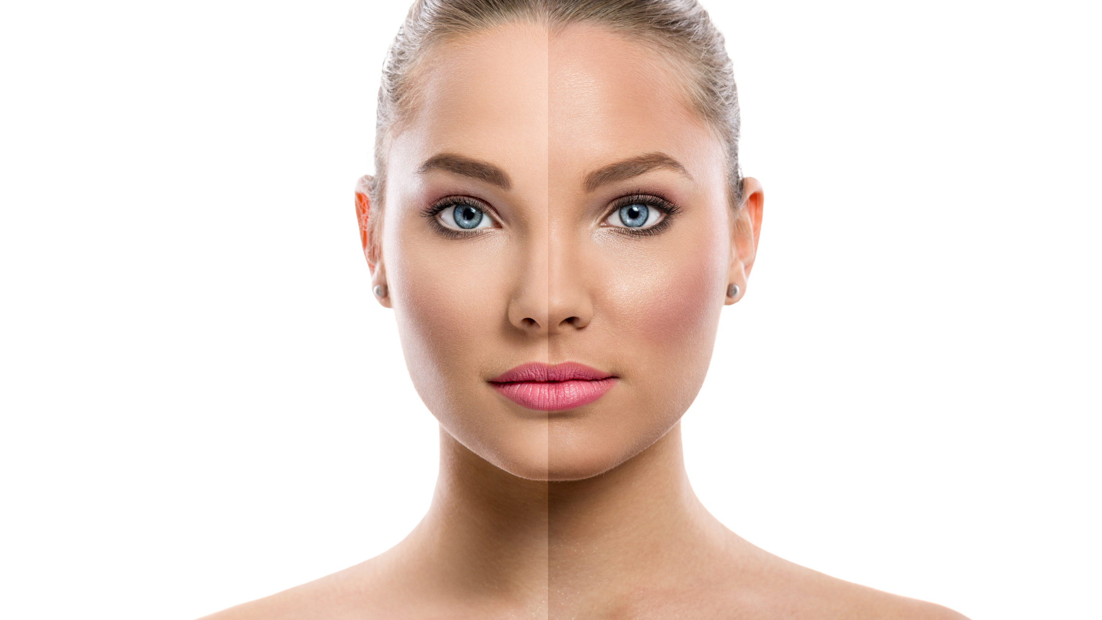 Uneven skin tone to even skin tone