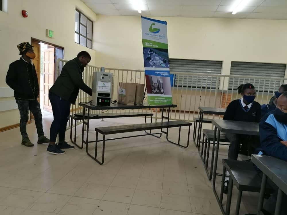 Sanitary Napkin Incinerators Installed in Botswana, Africa.