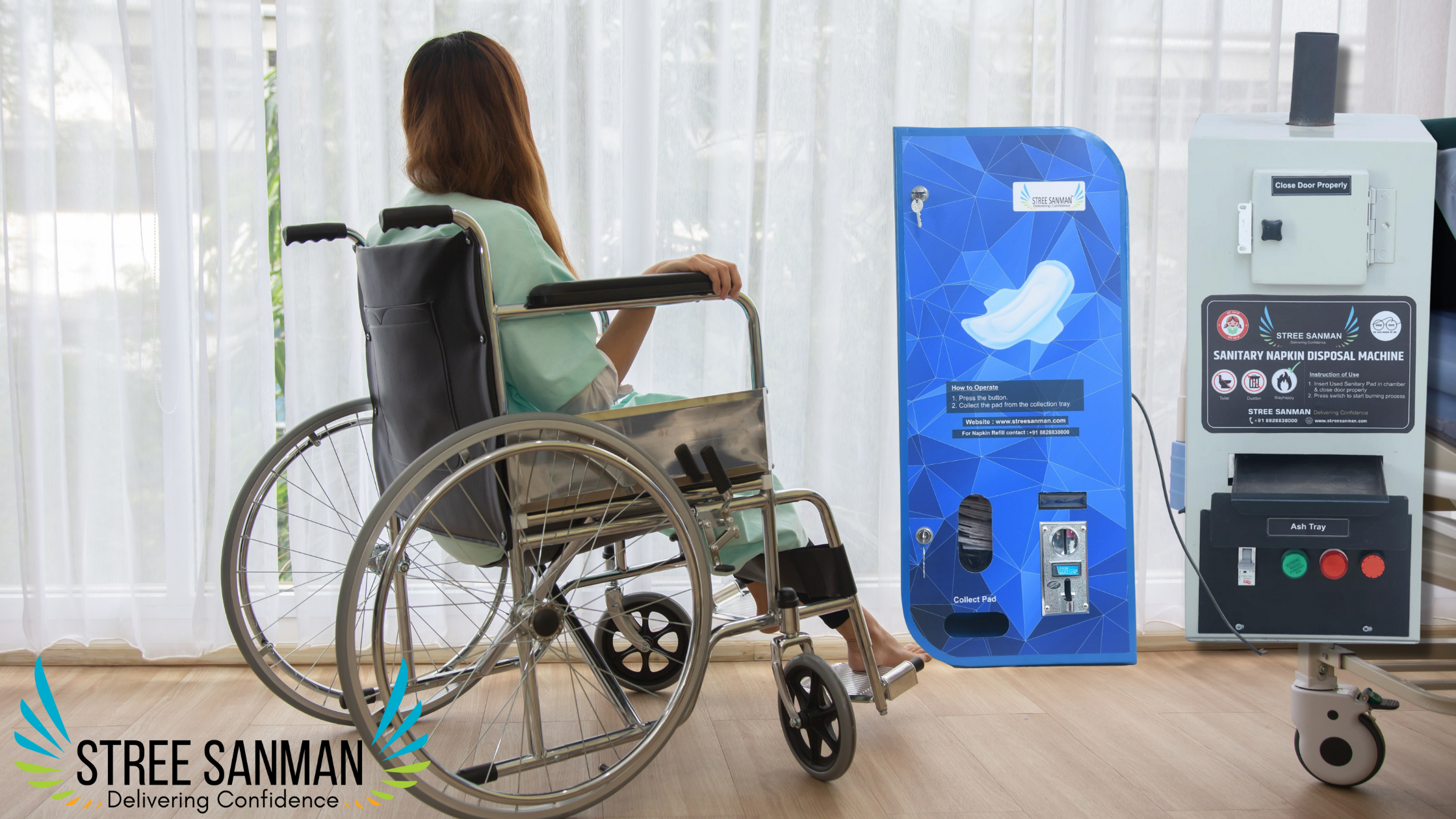 Disposal of Pads for Physically Disabled Women.